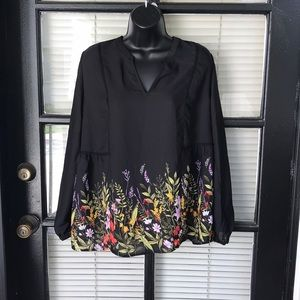 Old Navy Tops - Old Navy Floral Long Sleeve Blouse
